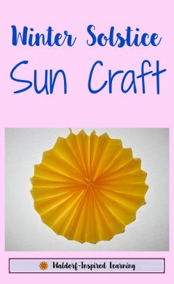 Winter Solstice Sun Craft