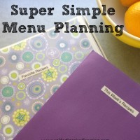 Super Simple Menu Planning
