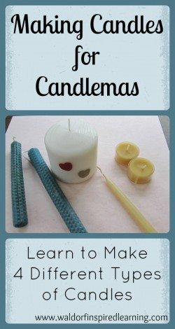Making Candles for Candlemas