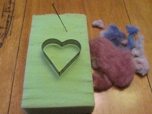 Making Needle Felted Hearts