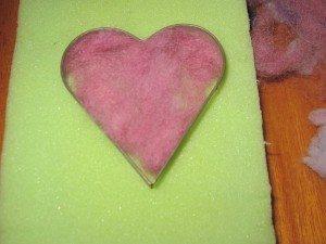Making Needle Felted Hearts