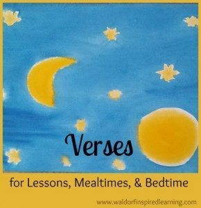 Verses for Lessons, Mealtime, Bedtime