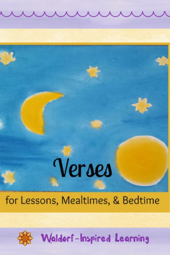 Here are some verses for touch points throughout your day: verses for lessons, mealtimes, and bedtime to help you bring ritual to your children.