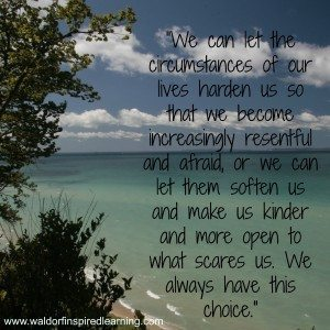 As homeschooling Moms, we always have a choice about how we respond to any given situation. If only we can recognize our attitude choices.
