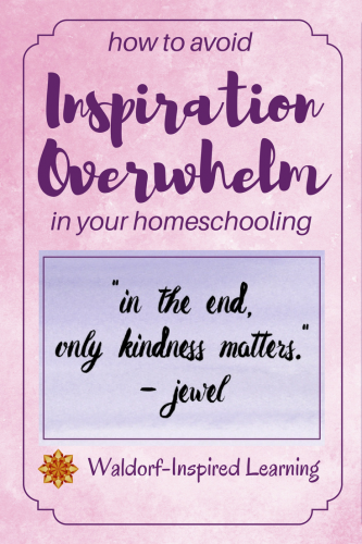 How to Avoid Inspiration Overwhelm