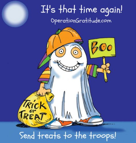 Donate Halloween candy to the troops through Operation Gratitude