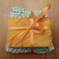 Knitted Washcloth w/ Soap