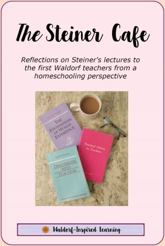 The Steiner Cafe, reflections on Steiner's lectures to the first Waldorf teachers from a homeschooling perspective