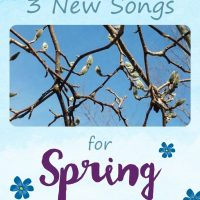 Here are three beautiful songs for spring! Add them to your music repetoire in your homeschool for singing with your children.