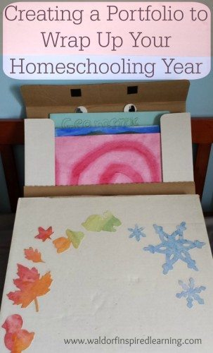 Ideas for creating a homeschooling portfolio to wrap up your year in 3 easy steps. Review & celebrate your children's learning.