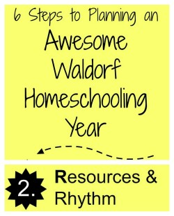 Waldorf Homeschool Planning with Step Two