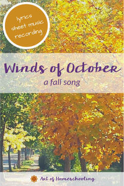 Winds of October - a fall song with lyrics, sheet music, and recording
