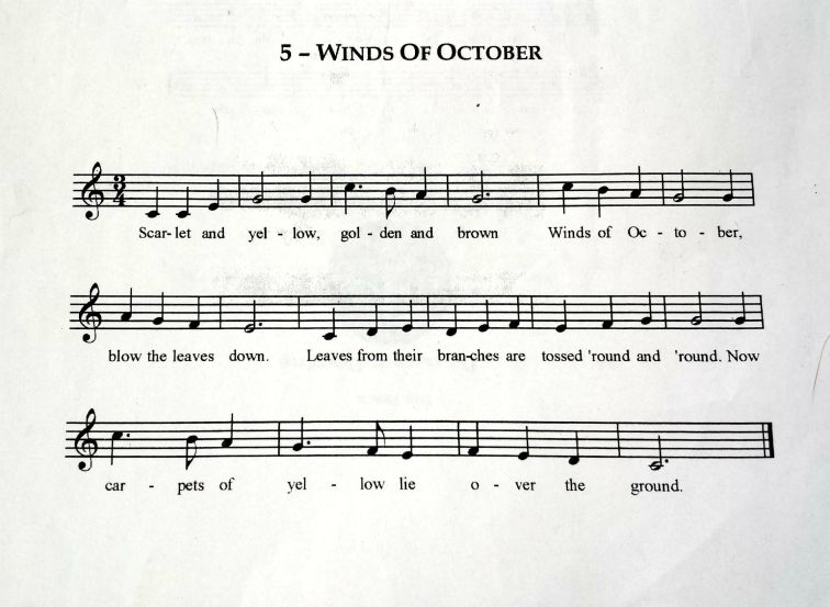 Winds of October Sheet Music