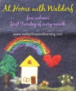 Join me, Jean, for a free webinar on December 1. At Home with Waldorf.