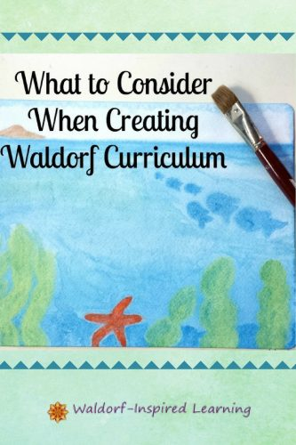 Steiner's suggestions on the Waldorf curriculum