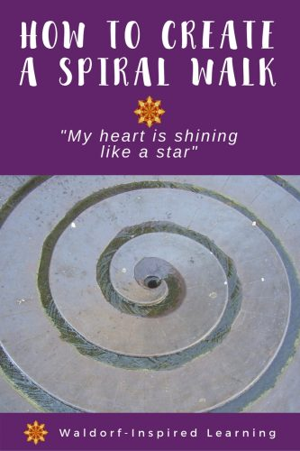 """""""My Heart is Shining Like a Star"""" How to Create a Spiral Walk for your family"""