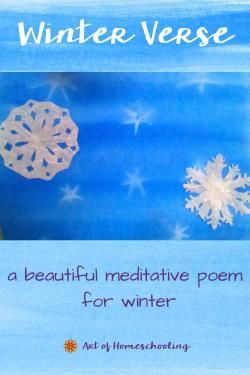 Winter Verse, a beautiful meditative poem for winter