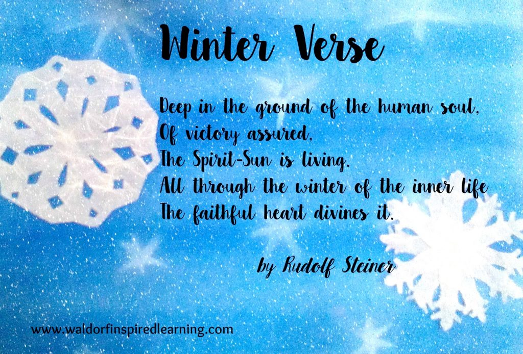 Winter Verse by Rudolf Steiner