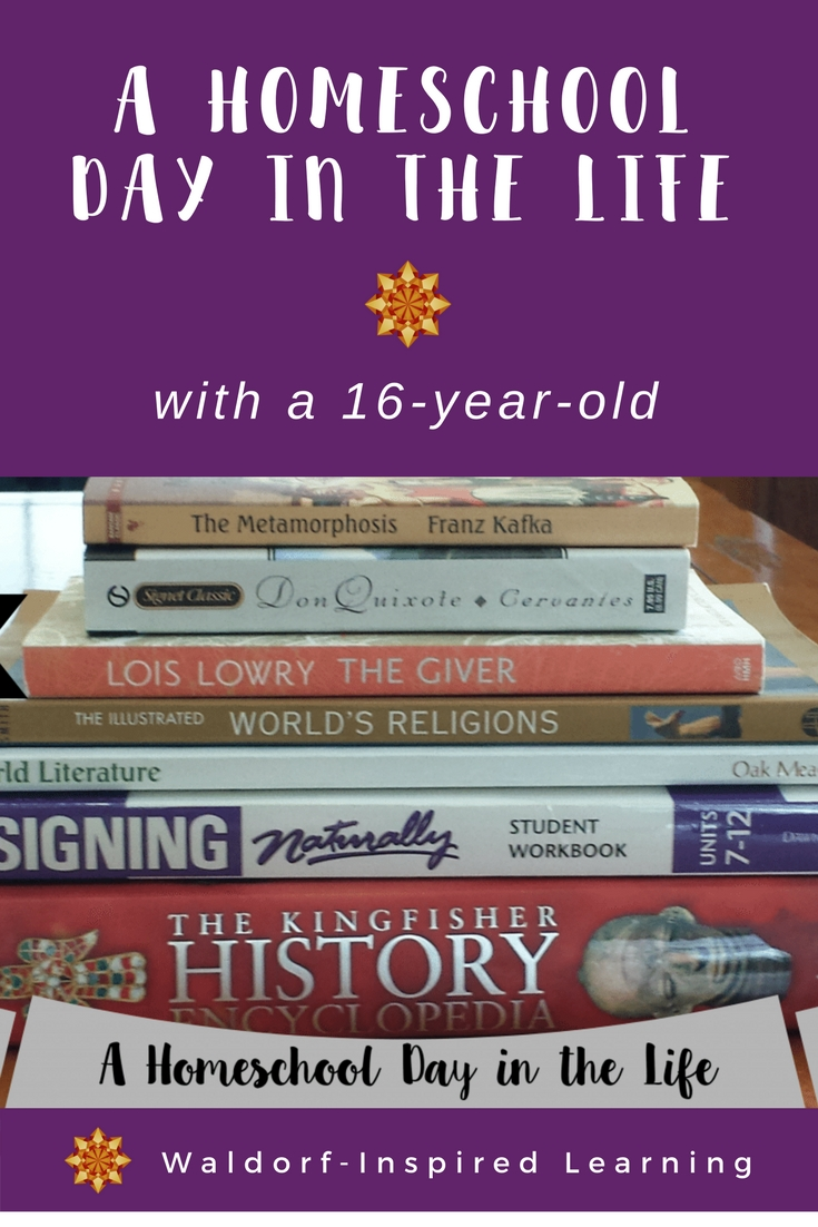 A Homeschool Day in the Life with a 16-year-old