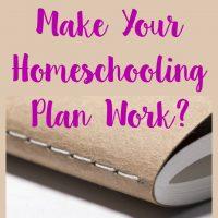 How Do You Make Your Homeschooling Plan Work?