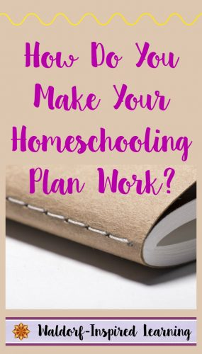 Do you wonder how to find time for Waldorf homeschool planning during the school year? Here are tips on creating a planning rhythm for yourself.
