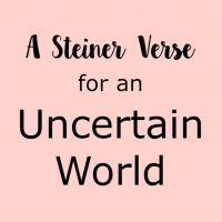 A Steiner Verse for an Uncertain World