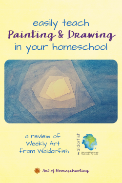 Easily Teach Painting and Drawing in Your Homeschool - a Review of Weekly Art from Waldorfish