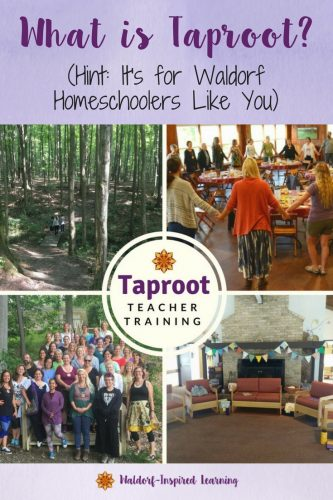Taproot Teacher Training, a weekend experience for Waldorf homeschoolers