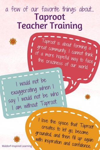 Favorite things about Taproot Teacher Training