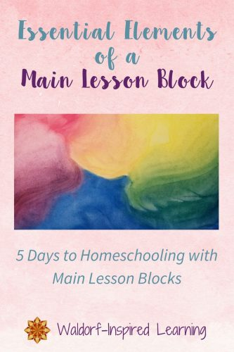 Essential Elements of a Main Lesson Block