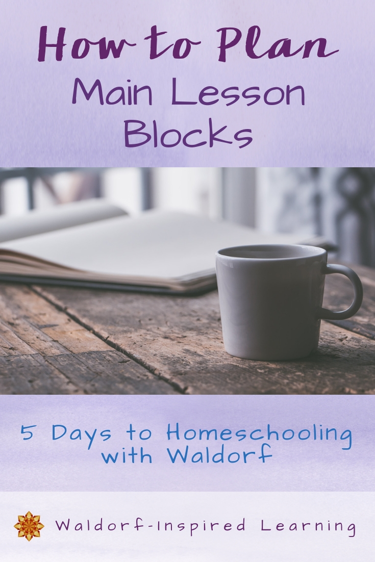 How to Plan Main Lesson Blocks