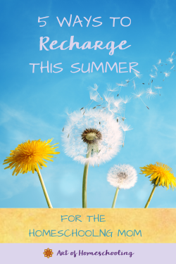 5 Ways to Recharge This Summer for the Homeschooling Mom