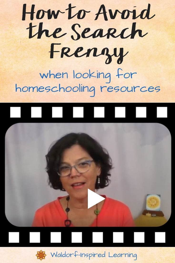 How to Avoid the Search Frenzy when looking for homeschooling resources