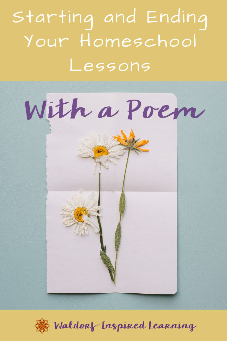 Poems for Starting and Ending Your Lessons