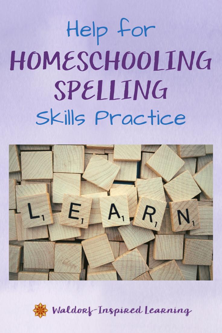 Help for Homeschooling Spelling Skills Practice