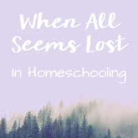 When All Seems Lost in Homeschooling