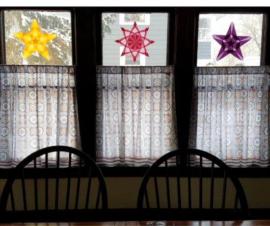 Window Stars in Dining Room